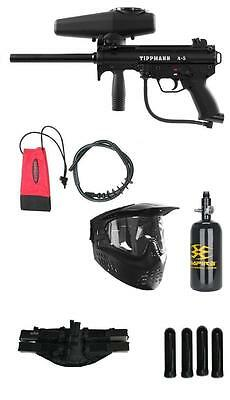 NEW TIPPMANN A5 Paintball Marker Gun Package With 48/3000 HPA/N2 Nitro Tank