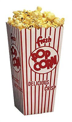 Popcorn Machine Supplies 100 Popcorn Scoop Boxes .75 Oz