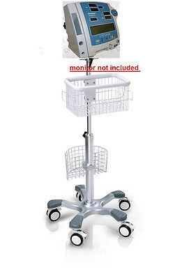 Rolling Stand For Critikon Dinamap Compact T Vital Sign Monitor Big Wheel