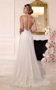 Illusion Lace French Tulle Wedding Dress