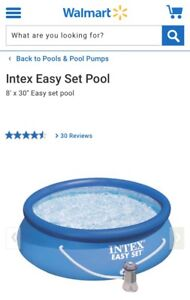 """Intex 8' x 30"""" pool with pump and 8' cover"""