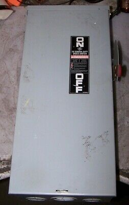 Ge 100 Amp Fused Safety Switch 240 Vac 7.5 Hp 1 Phase Raintight Tg3223r