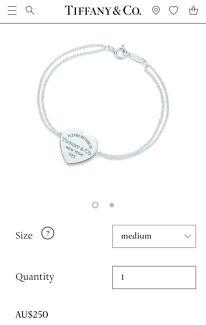 Wanted: Tiffany & Co Bracelet
