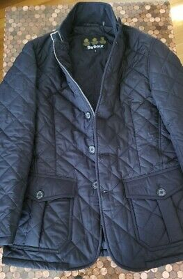 Barbour Lutz Quilted Jacket Coat in Black Size S MSRP:$269.99