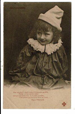 CPA-Carte Postale-France -Une fillette avec son bonnet : Frimousses en 1904