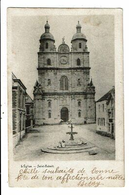 CPA Carte Postale -Belgique-Saint-Hubert-Son Eglise  en 1902 VM12474
