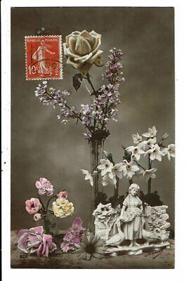 CPA Carte Postale -France-Fantaisie -Composition florale -1912-VM12434...