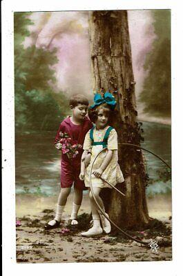 CPA - Carte Postale - France - Fantaisie-Un garçon et une fillette