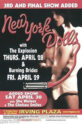 New York Dolls David Johansen  Handbill Mini Poster Irving Plaza NYC