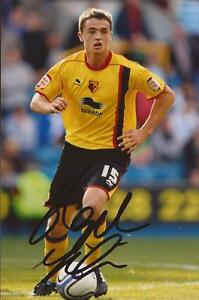 WATFORD: STEPHEN McGINN SIGNED 6x4 ACTION PHOTO+COA