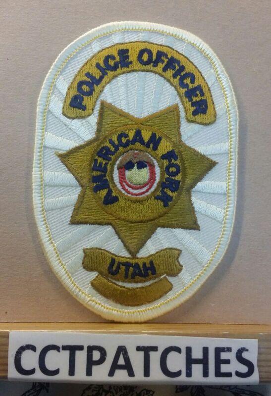 AMERICAN FORK, UTAH POLICE OFFICER SHOULDER PATCH UT