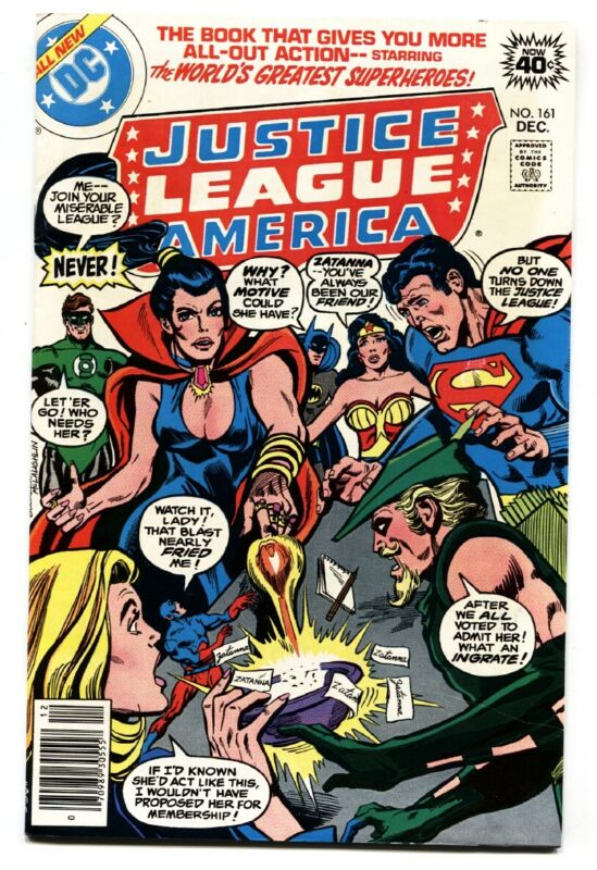 JUSTICE LEAGUE OF AMERICA #161  1978-ZATANNA-DC comic book