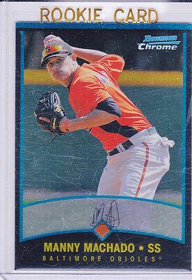 MANNY MACHADO RC Baseball ORIOLES ROOKIE CARD Bowman Chrome $$ MLB