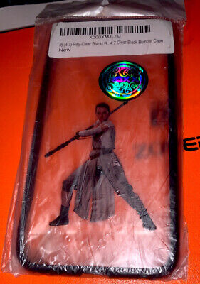 Iphone 6 (4.7 ) Clear Black Rey  (Star Wars ) Bumper Case  New!!!