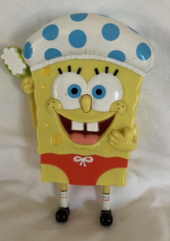 2004 Mattel Spongebob Squarepants Singing In The Shower Bathroom Toy - WORKS