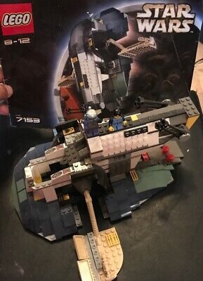 LEGO STAR WARS 7153 JANGO FETT 'S SLAVE I W/ Both Figs,MANUAL, Retired Rare 2002