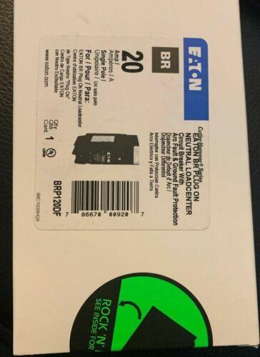 5 x CUTLER HAMMER EATON BRP120DF 20A DUAL FUNCTION PLUG ON AFCI/GFCI BREAKERS