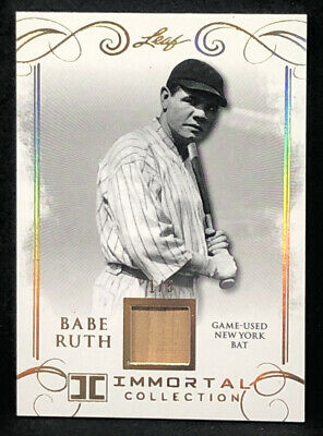2017 Leaf Babe Ruth #YB-04 Gold New York Bat Card 1/5 NM-MT+