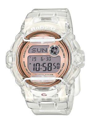 Casio BABY-G BG169G-7B Whale Series Women's Clear Bronze Resin Digital Watch