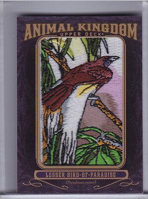 2012 UPPER DECK GOODWIN CHAMPIONS #AK117 LESSER BIRD-OF-PARADISE PATCH