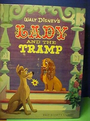 Lady and the Tramp 1955 Vintage Big Golden Book Version