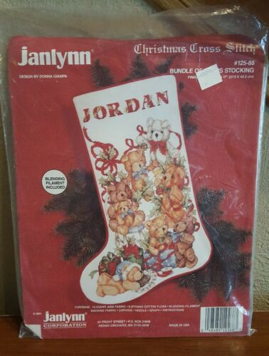 Janlynn Counted Cross Stitch Kit 125-88 BUNDLE OF BEARS STOC