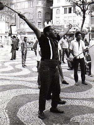 Original Press Photo World Cup 1970 Brazil Fans celebrate winning in Rio 24.6.70