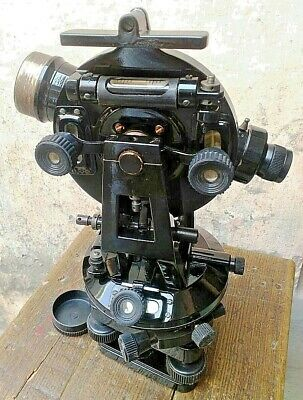 Transit Vernier Theodolite 15 For Surveying Equipment Instrument Steel Axcle...