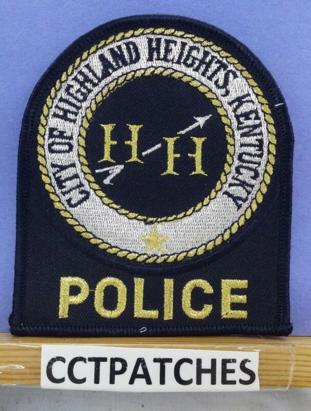 HIGHLAND HEIGHTS, KENTUCKY POLICE BLACK/GOLD/SILVER SHOULDER PATCH KY