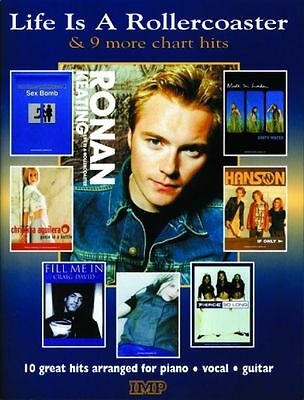 Life is a Rollercoaster and 9 More Chart Hits Piano Vocal Guitar Songbook