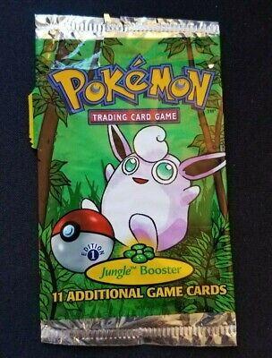 1st Edition EMPTY Pokemon Trading Card Game JUNGLE EMPTY Booster Wigglytuff WOTC