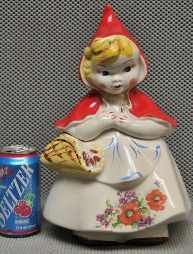 """Little Red Riding Hood Cookie Jar 135889 U.S.A. 13¼"""" tall Hull original"""