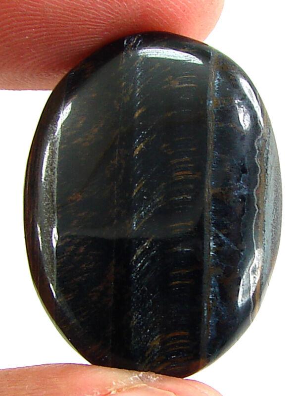 30.75 Ct Natural Black Tiger