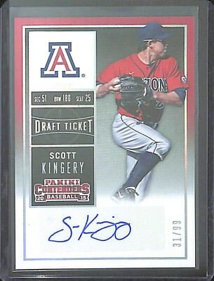 2015 Panini Contenders Foil Autograph #20 Scott Kingery No 31 of 99 for sale  Shipping to South Africa