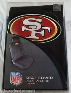 nfl nib car seat cover san francisco 49ers. Black Bedroom Furniture Sets. Home Design Ideas