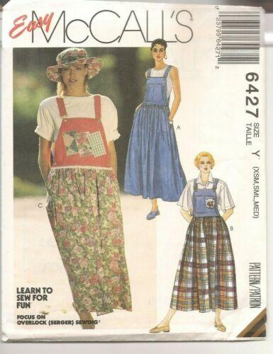 Vtg Jumper Dress Sewing Pattern McCall