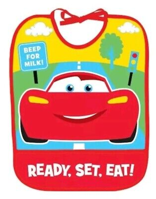 Disney Cars 1st First Birthday CHAMP Baby Bib ~ birthday party favor supplies