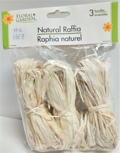 Floral Garden Natural Raffia 3-Bundles