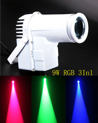 Led Pinspot,9w Full Color RGB 3IN1 Led Spot Light,Use For Mirror Ball (Mirror Ball Light)