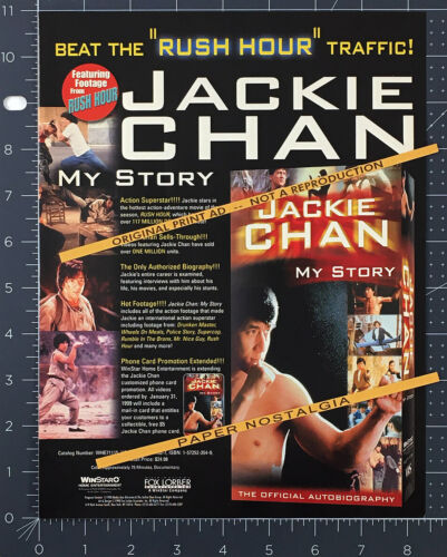 JACKIE CHAN: MY STORY__Original 1998 Trade AD / ADVERT__Michelle Yeoh_John Woo