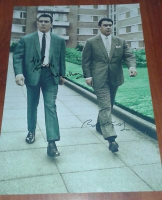 THE KRAYS SIGNED POSTER. RONNIE & REGGIE KRAY. GANGSTERS. LEGEND. THE KRAY TWINS