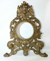 VTG Solid Brass Bronze Art Nouveau Mantel Clock Case Deco Clock Case Frame