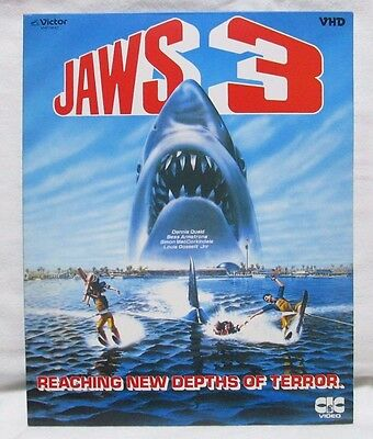 JAWS 3 - Japanese original VHD VIDEO DISC