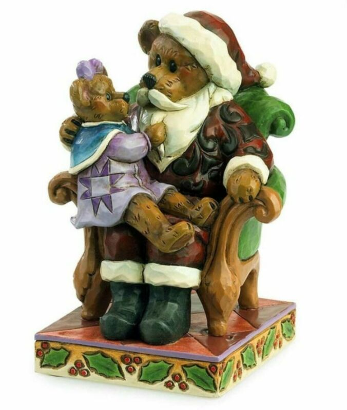 "JIM SHORE BOYDS BEARS ""SANTA w/ HOLLY"" CHRISTMAS WISHES 4035827 * FREE SHIPPING"