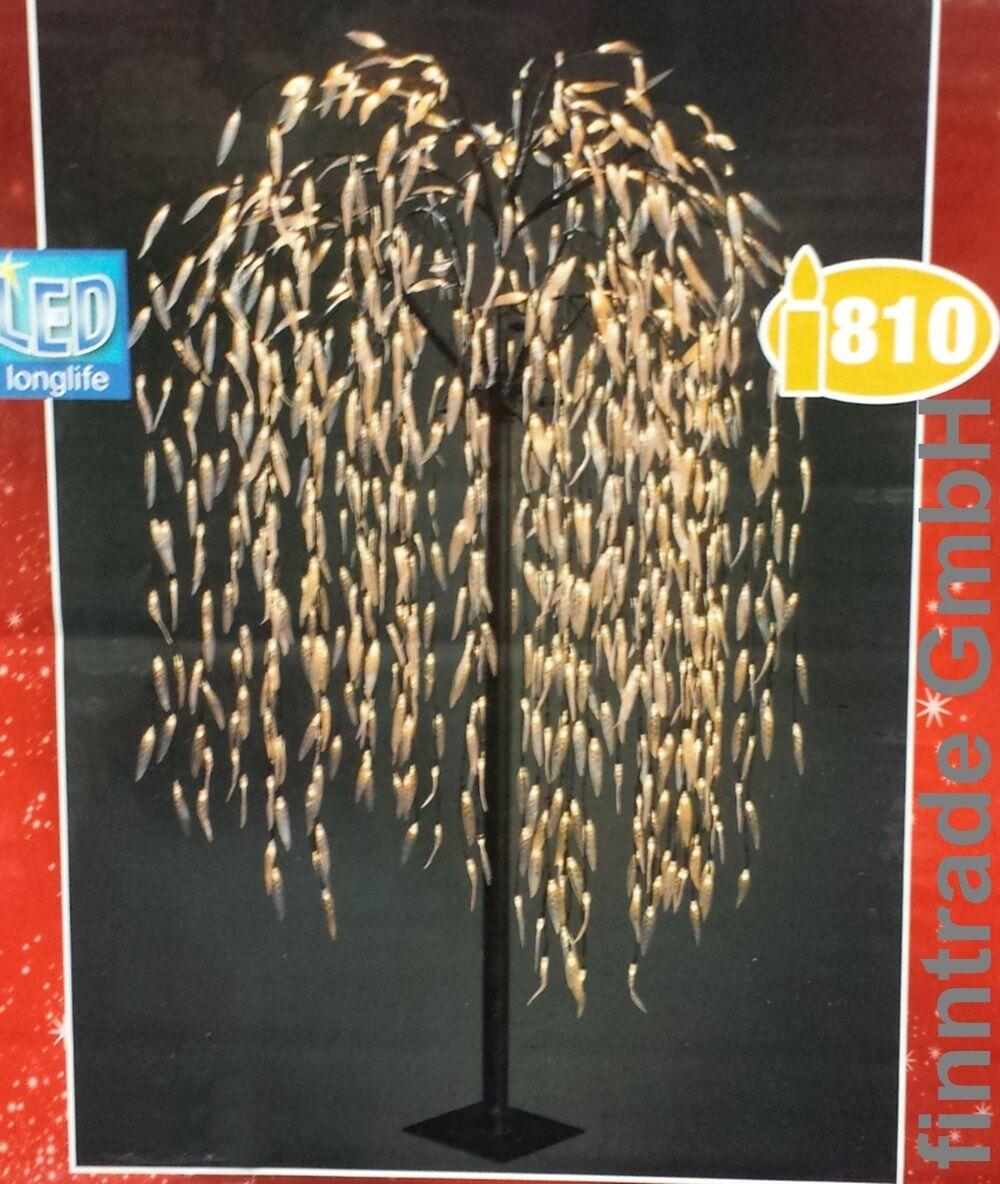lichterbaum 810led 210cm warmwei trauerweide weide baum weihnachten innen au en eur 189 00. Black Bedroom Furniture Sets. Home Design Ideas