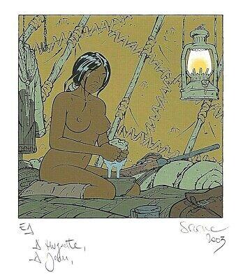 STERNE - ADLER (CARTE DE VOEUX en SERIGRAPHIE Signée) NEUF
