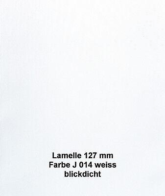 Ersatz Lamelle mit Lamellenhalter 175 cm lang Polyester Farbe weiß
