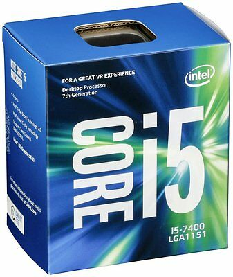 New Intel Core i5-7400 Kaby Lake 4-Core Processor 3GHz 3.5GHz max BX80677I57400