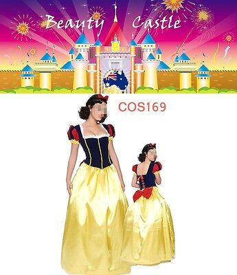 Adult Snow White Deluxe Disney Princess Fairy Tale Fancy Dress Costume COS169 (Snow White Deluxe Adult Costume)