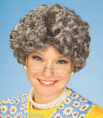 FORUM YO MOMMA WIG CURLY GRAY MOM GRANDMOTHER HALLOWEEN COSTUME ACCESSORY 59981 (Grandmother Costume)